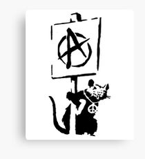 Banksy Rat Revolution! Canvas Print