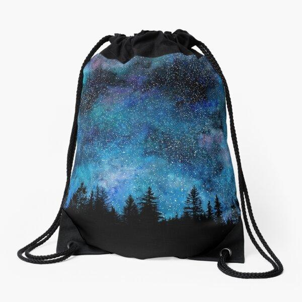 Nuit étoilée dans la forêt Sac à cordon