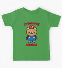 Bear Cute Kawaii Funny Mario Parody Kids Tee