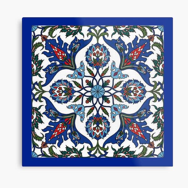 Oriental pattern wall art Metal Print
