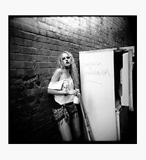 Bad girl - Holga - Lomography Photographic Print