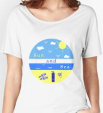 Summer rest. Equipment for diving. Women's Relaxed Fit T-Shirt