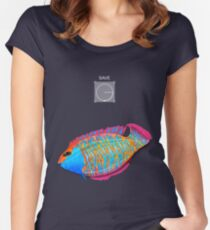 Save the Fish - Detroit become Human (Good for Coloured shirts) Women's Fitted Scoop T-Shirt