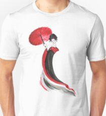 Geisha with Umbrella Unisex T-Shirt