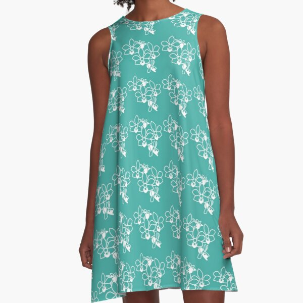 Orchid  green touch A-Line Dress