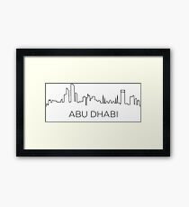 Abu Dhabi city outline Framed Print