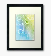 Life is our Canvas Framed Print