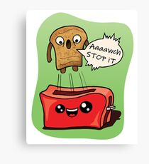 Toaster and Toast  Canvas Print