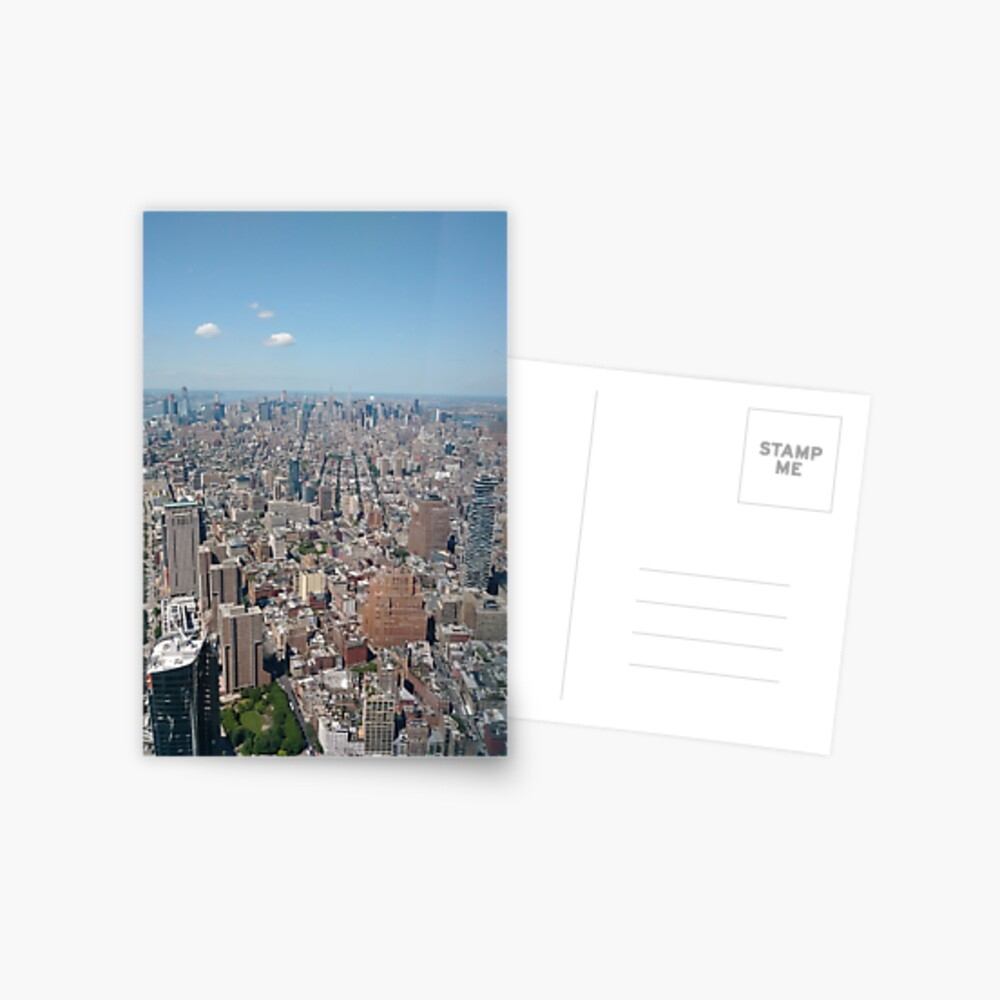 New York City, Manhattan, Brooklyn, New York, streets, buildings, skyscrapers, cars, pedestrians, #NewYorkCity, #Manhattan, #Brooklyn, #NewYork, #streets, #buildings, #skyscrapers, #cars, #pedestrians Postcard