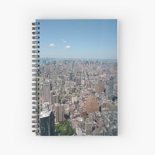 New York City, Manhattan, Brooklyn, New York, streets, buildings, skyscrapers, cars, pedestrians, #NewYorkCity, #Manhattan, #Brooklyn, #NewYork, #streets, #buildings, #skyscrapers, #cars, #pedestrians Spiral Notebook