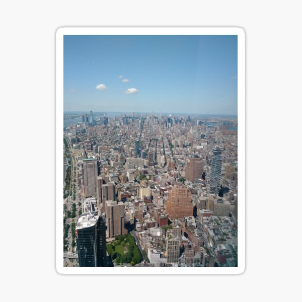 New York City, Manhattan, Brooklyn, New York, streets, buildings, skyscrapers, cars, pedestrians, #NewYorkCity, #Manhattan, #Brooklyn, #NewYork, #streets, #buildings, #skyscrapers, #cars, #pedestrians Sticker