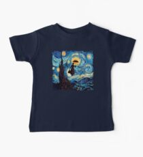 The Flying Lady with an Umbrella Oil Painting Kids Clothes