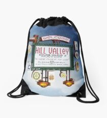 Welcome to Hill Valley - Sky Way Billboard Drawstring Bag