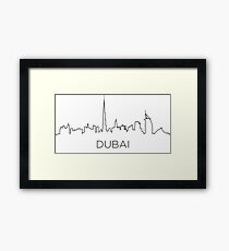 Dubai city outline Framed Print