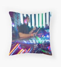 Electric Drumming Throw Pillow