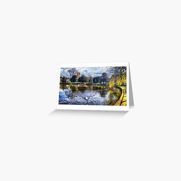 Crammer Pond Devizes Wiltshire England UK Greeting Card