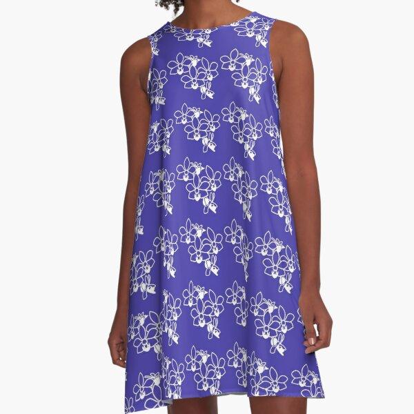 Orchid blue touch A-Line Dress