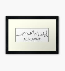 Al Kuwait city outline Framed Print