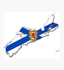 Nova Scotia Flag Map  Photographic Print