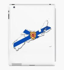 Nova Scotia Flag Map  iPad Case/Skin
