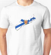Nova Scotia Flag Map  Unisex T-Shirt