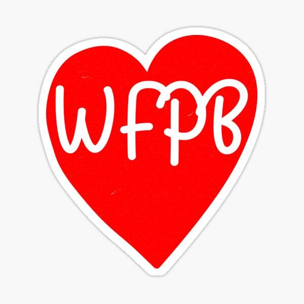 WFPB Plant Based Heart Sticker