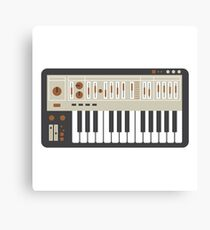 Retro Synth Keyboard Canvas Print
