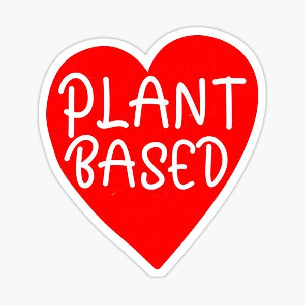Plant Based WFPB Heart Sticker