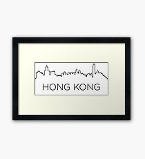 Hong Kong city outline Framed Print