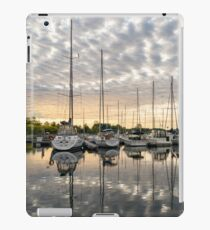 Herringbone Sky Patterns with Yachts and Boats iPad Case/Skin