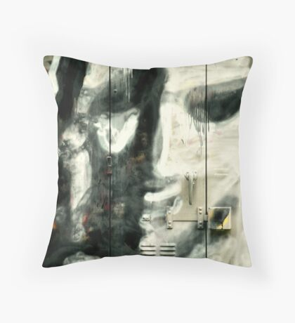 Face Of A City Cry Throw Pillow