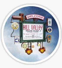 Welcome to Hill Valley - Sky Way Billboard Sticker