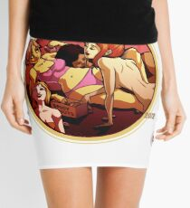 Spicy Donut pinup calender cover Mini Skirt