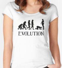 Femdom BDSM Evolution Tailliertes Rundhals-Shirt