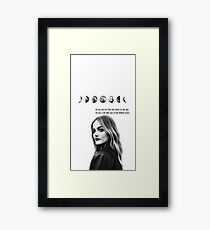 Lucy hale Framed Print