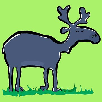 blue moose by greendeer