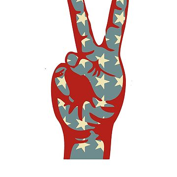 Peace Sign 4th Of July T Shirt Gift by eaglestyle