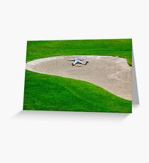 Golfer in Bunker Greeting Card
