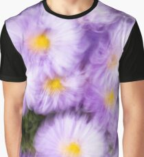September Daisies - Aster Flowers Graphic T-Shirt