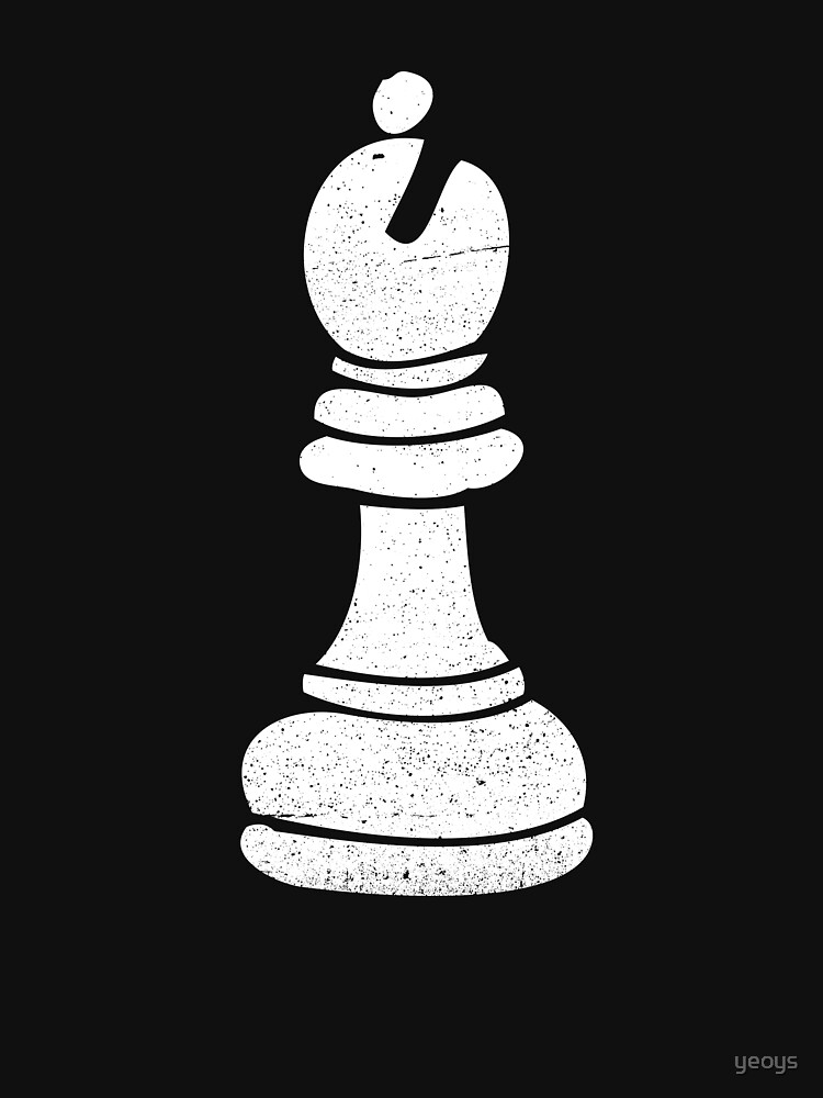 Bishop Chess Piece - Cool Chess Club Gift by yeoys