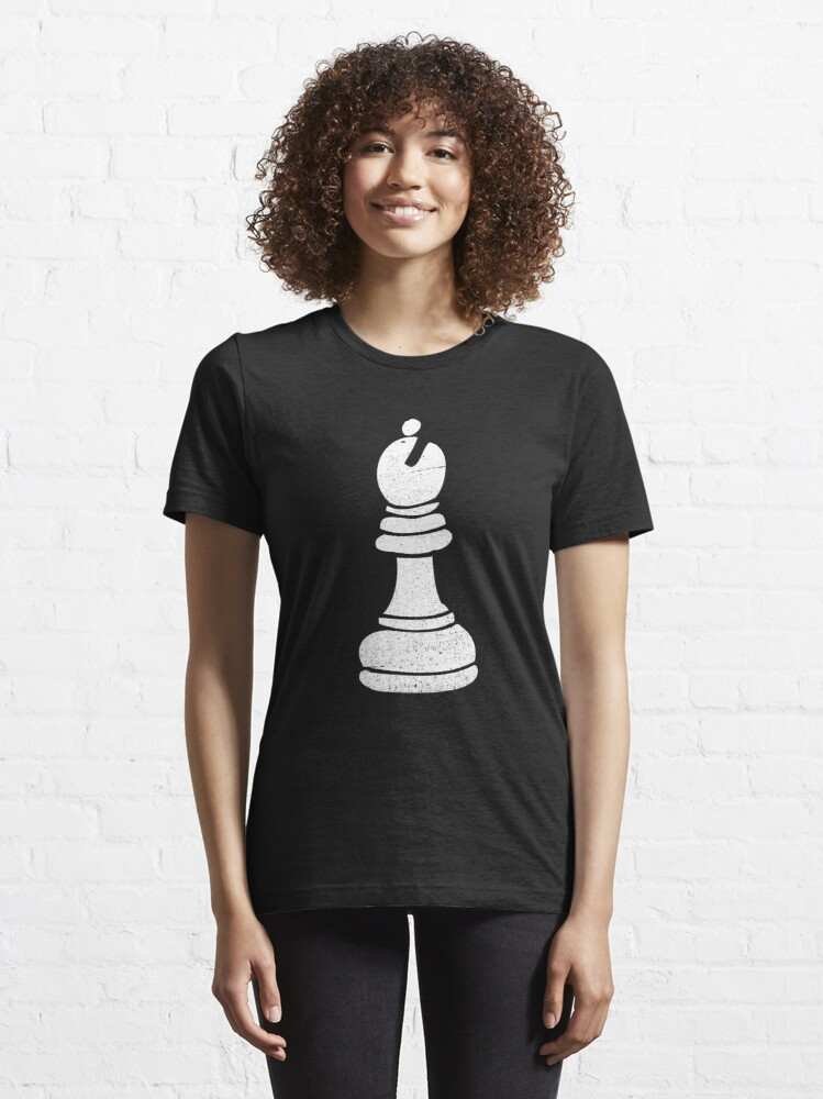 Alternate view of Bishop Chess Piece - Cool Chess Club Gift Essential T-Shirt