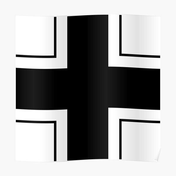 CROSS. Balkenkreuz, Insignia of the German Armed Forces in WWII. Poster