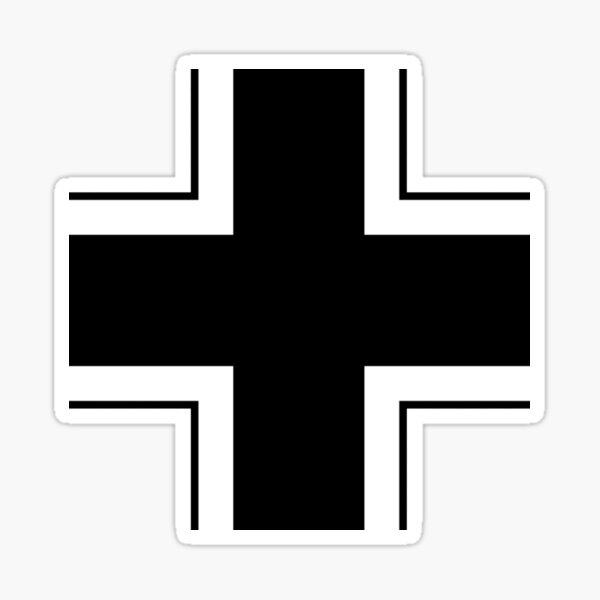 CROSS. Balkenkreuz, Insignia of the German Armed Forces in WWII. Sticker