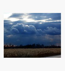 Corn Fields and Storms Photographic Print