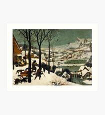 The Hunters in the Snow (1565) Pieter Bruegel the Elder Art Print