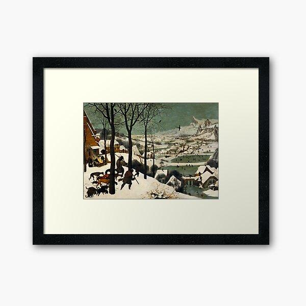 The Hunters in the Snow (1565) Pieter Bruegel the Elder Framed Art Print