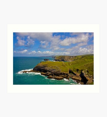 View from Tintagel Art Print