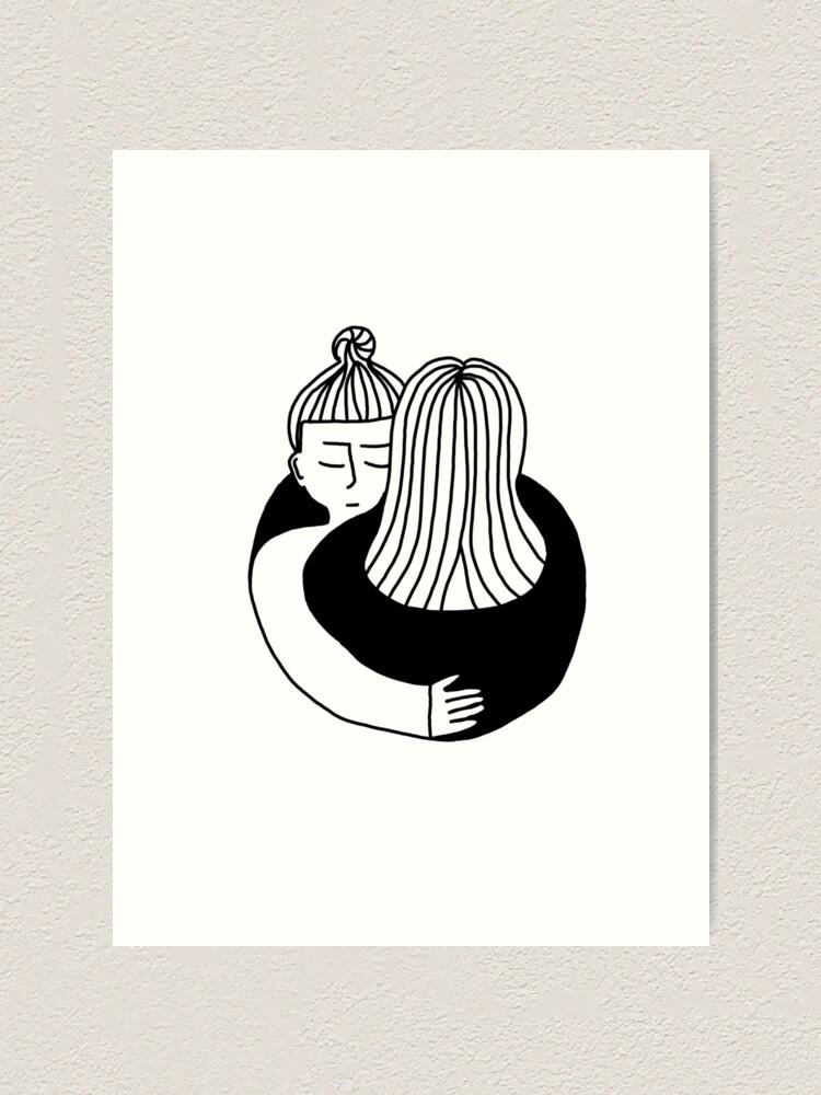 Alternative Ansicht von The Hug Kunstdruck