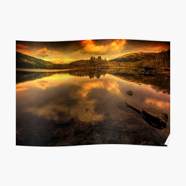 Loch Chon Reflections Poster