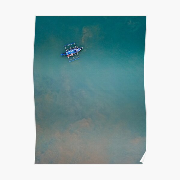 A minimalism of a fishing boat in the Philippines  Poster